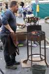 A Blacksmith at work in Stow Town Square