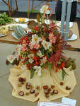 Sue Arthur's winning flower arrangement at the Cotswold Festival Flower & Produce show