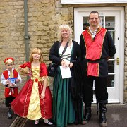A family all dressed in English Civil War costume