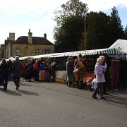 Craft and produce stalls in Stow Square for the 2011 Cotswold Festival