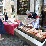 Pig Roast outside the Cotswold Cricket Museum in Brewery Yard