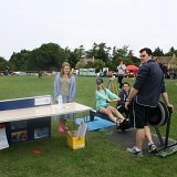 Fitness stall from Moreton Fire College on QEII field
