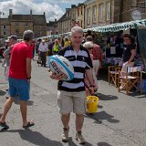 Sean Clarke organising the 'Carry Me Home Kate' rugby ball passing