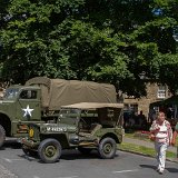 American military vehicle display