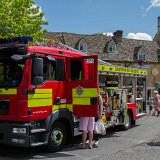 Stow's very own Fire engine on display