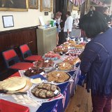 The Stow Civic Society cake stall in St Edward's Hall