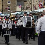 Gloster Gladiators marching band arriving in style