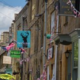 Bunting and flags everwhere