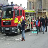 Stow Fire Brigade make an appearance and let visitors check out their equipment