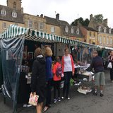 Market stalls at the Festival