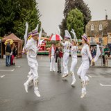 Ducklington Morris dancing a traditional Cotswold dance